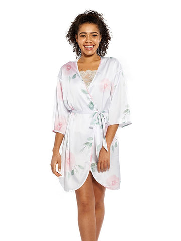 Blossom Robe in White