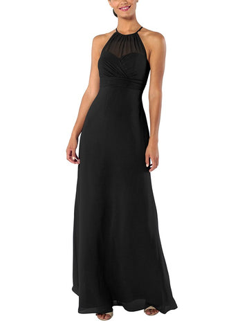Brideside Carrie Bridesmaid Dress in Black - Front