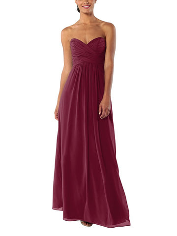 Brideside Charlotte Bridesmaid Dress in Berry - Front