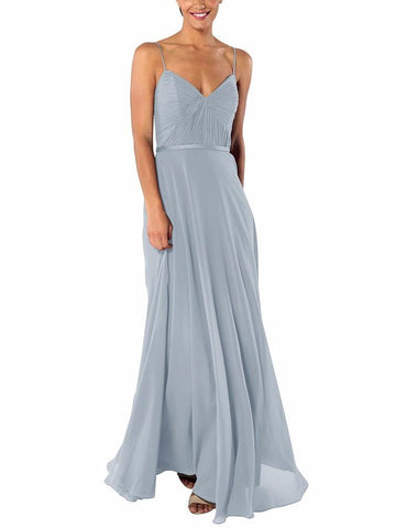Brideside Cher Bridesmaid Dress in Sky - Front