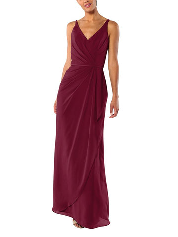 Brideside Dionne Bridesmaid Dress in Berry - Front