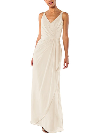 Brideside Dionne Bridesmaid Dress in Vanilla Bean - Front