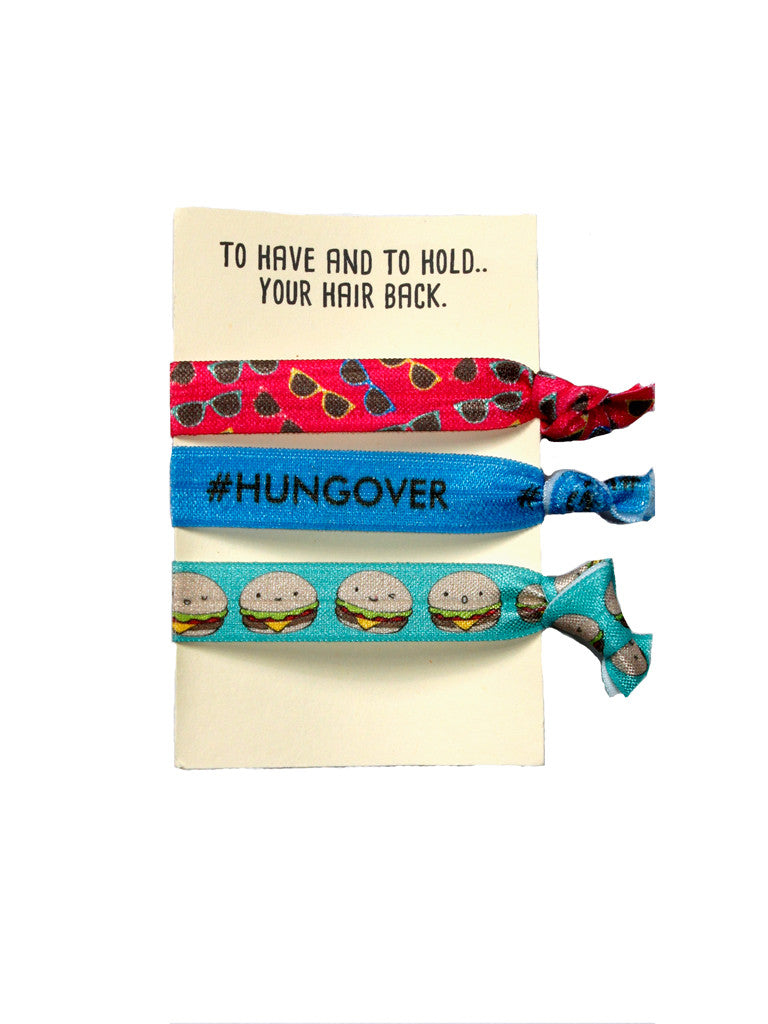 #Hungover Hair Tie Set (5 sets of 3)