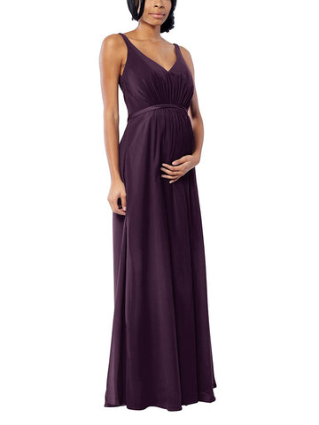 Brideside Jessie Maternity in Eggplant