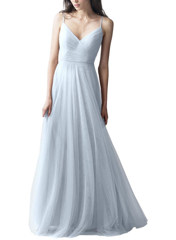 Jenny Yoo Brielle Bridesmaid Dress in Whisper Blue - Front
