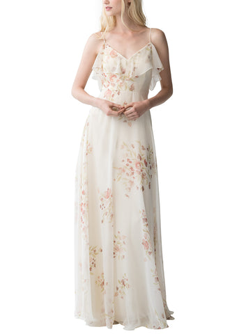Jenny Yoo Mila Eden Bouquet Print - Sample Bridesmaid Dress
