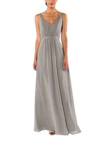 Brideside Mary-Kate Bridesmaid Dress in Earl Grey - Front