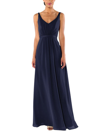 Brideside Mary-Kate Bridesmaid Dress in Midnight - Front