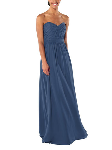 Brideside Phoebe Bridesmaid Dress in Lagoon - Front