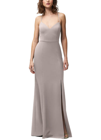 Jenny Yoo Reese Bridesmaid Dress in Quartz- Front