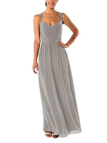 Brideside Serena Bridesmaid Dress in Earl Grey - Front