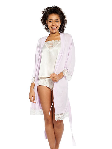 Soft Jersey Robe in Lavender