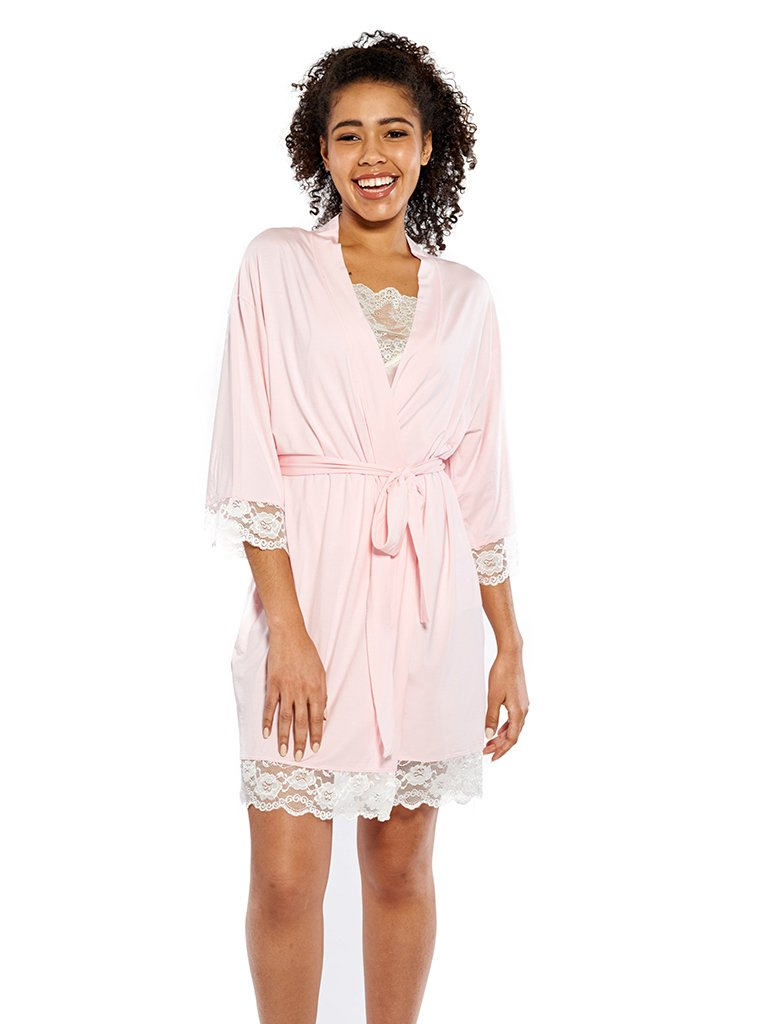 Soft Jersey Robe in Light Pink