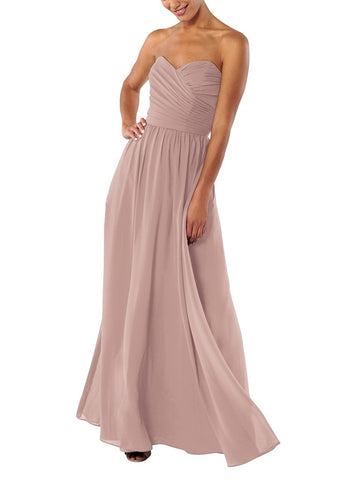 Brideside Tai Bridesmaid Dress in Frose - Front