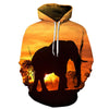 Keep Calm And Save Elephants Unisex 3D All-Over Print Hoodie