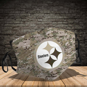 Pittsburgh Steelers camo Face Mk 3D Full print !!!