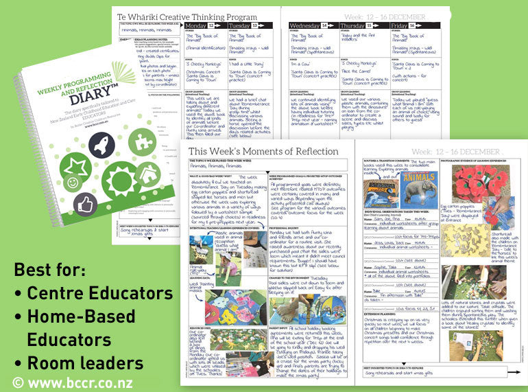 2019 New Zealand Weekly Programming and Reflection Diary - 6 Month Version - Butler Creative Childcare Resources New Zealand