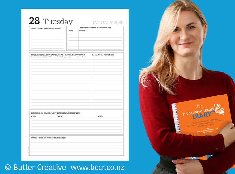 2020 New Zealand Educational Leader Diary - Butler Creative Childcare Resources New Zealand