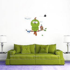 Novelty Mascot Owl Wall Clock