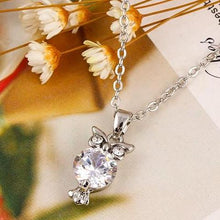Load image into Gallery viewer, Crystal Owl Pendants Necklace