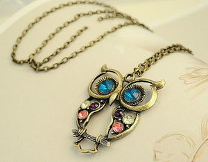 Hollow Cute Owl Necklace
