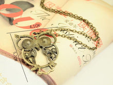 Load image into Gallery viewer, Hollow Cute Owl Necklace