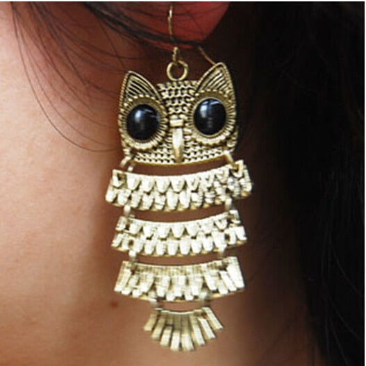 Retro Owl Earrings