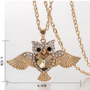 Owl Charms Pendant Necklace