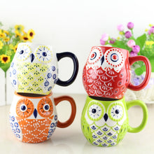 Load image into Gallery viewer, Kawaii Cartoon Owl Mug