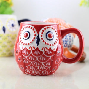 Kawaii Cartoon Owl Mug
