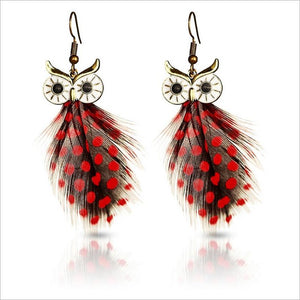 Lifelike Owl Stud Earrings