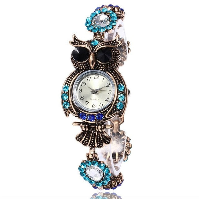 Vintage Rhinestone Quartz Watch