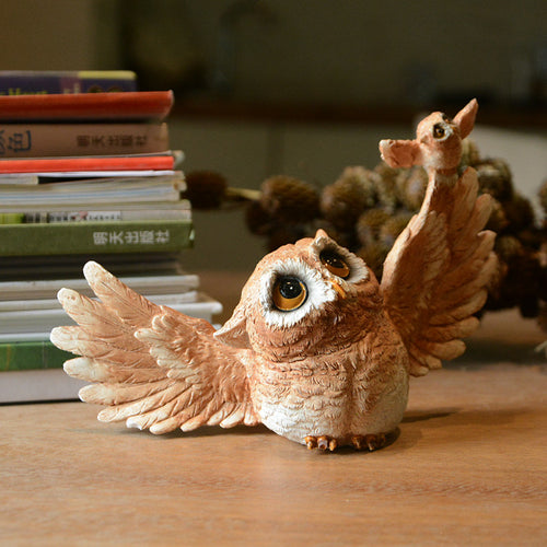 Small Owl Animal Figurine