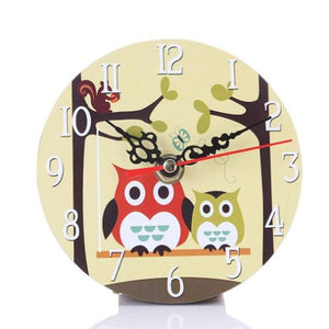 Vintage Owl Living Room Wall Clock