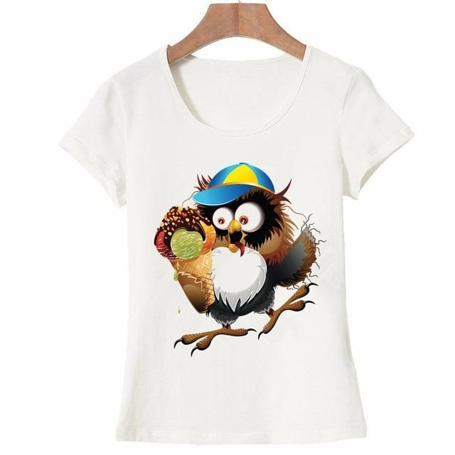 Owl Captain Printed T-Shirt