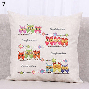 Clever Owls Cushion Cover