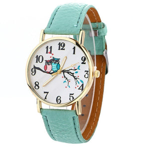 Cute Owl Pattern Wrist Watch
