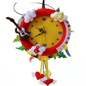 Music Shape Hanging Clock