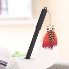 Load image into Gallery viewer, Owl Feather Pendant Gel Pen