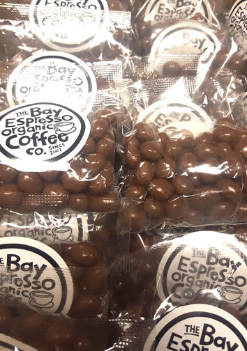 Chocolate covered Fair Trade coffee beans