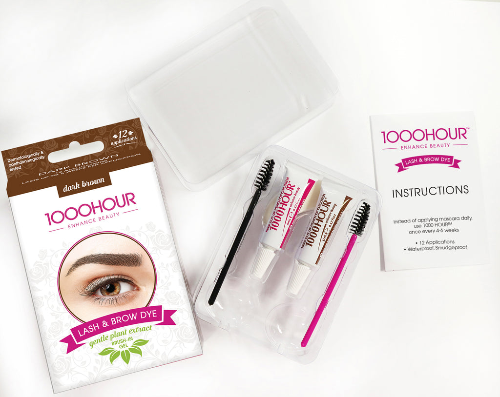 1000HOUR PLANT EXTRACT Lash & Brow Dye Kit - Dark Brown