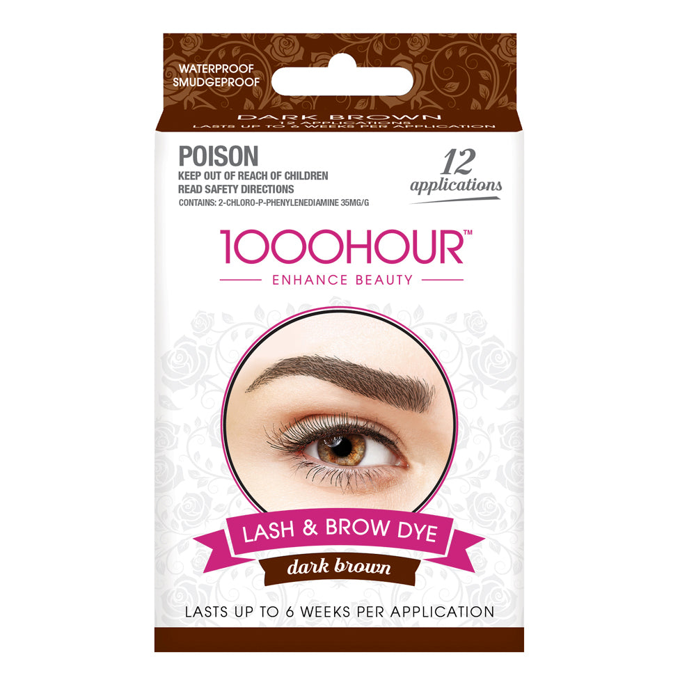 1000HOUR Lash & Brow Dye Kit Dark Brown