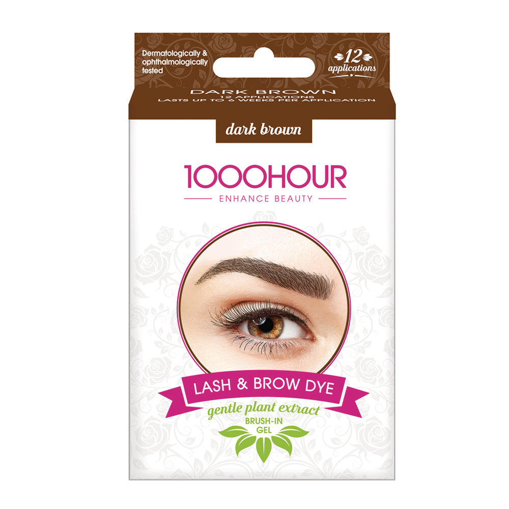 PLANT EXTRACT Lash & Brow Dye Kit - Dark Brown