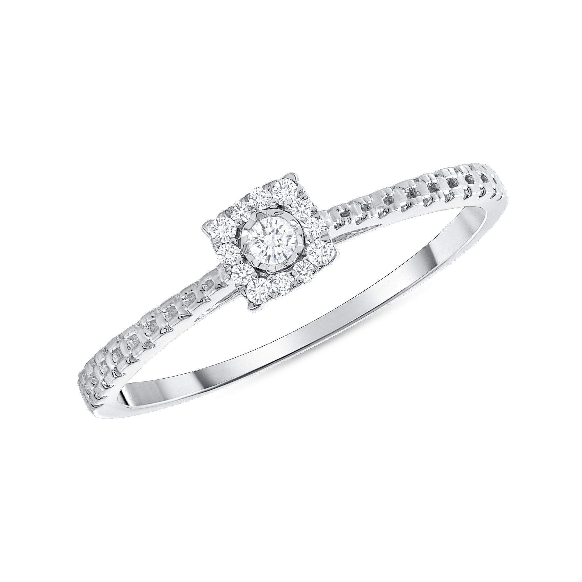 10k White Gold .08ctw Diamond Fashion Ring