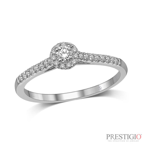 10K White Gold .25cttw Diamond Fashion Ring - prestigiojewelers