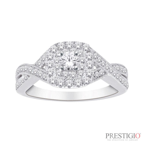 10K White Gold .50cttw Diamond Fashion Ring - prestigiojewelers