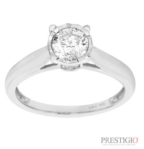 14K White Gold .50cttw Diamond Fashion Ring