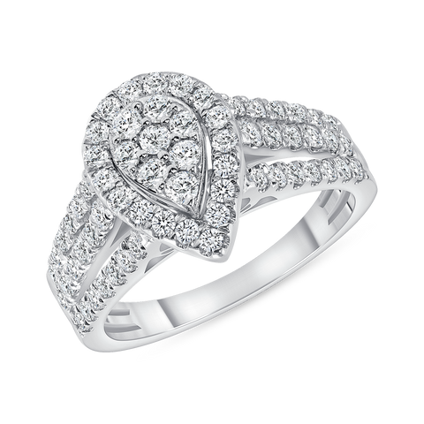 10k White Gold 1.00ctw Diamond Fashion Ring