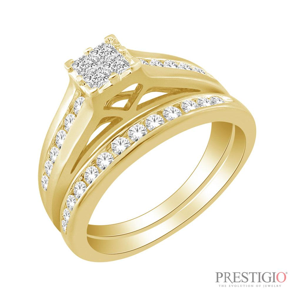 10K Yellow Gold .50cttw Diamond Wedding Set