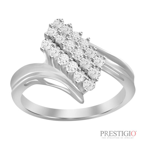 Sterling Silver .05cttw Diamond Fashion Ring - prestigiojewelers